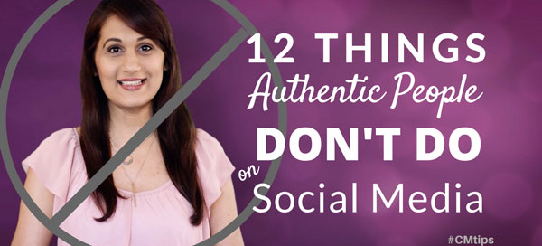 authentic people don't do this stuff on social media